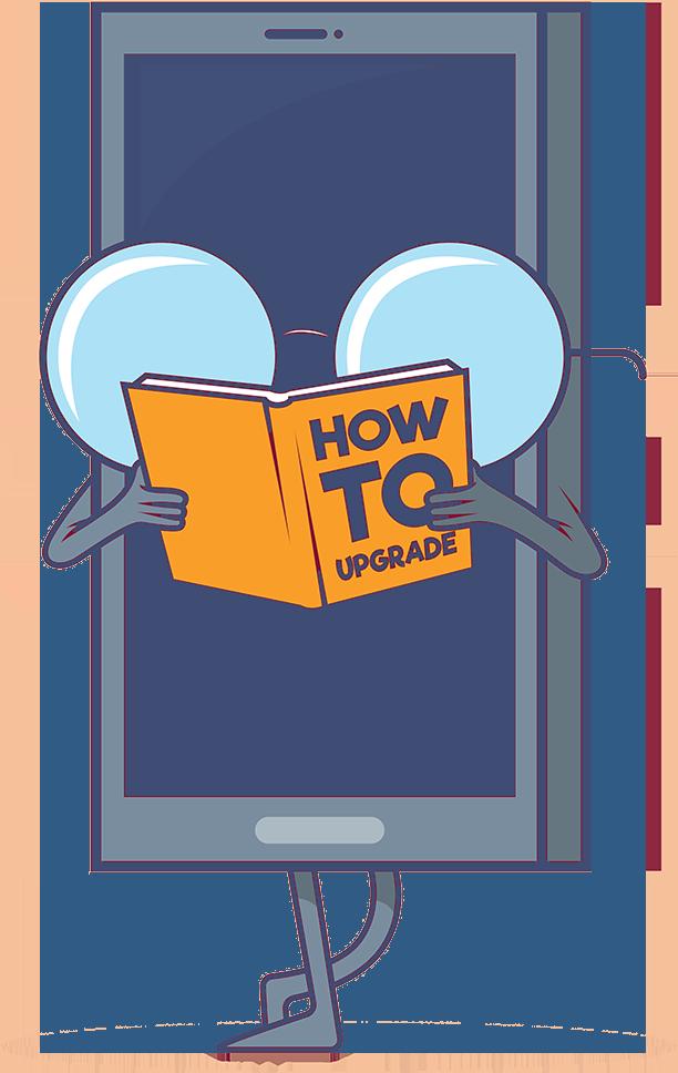 Telefon som läser och jämför mobilabonnemang
