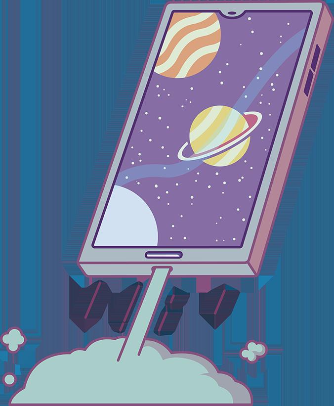 mobil som flyger