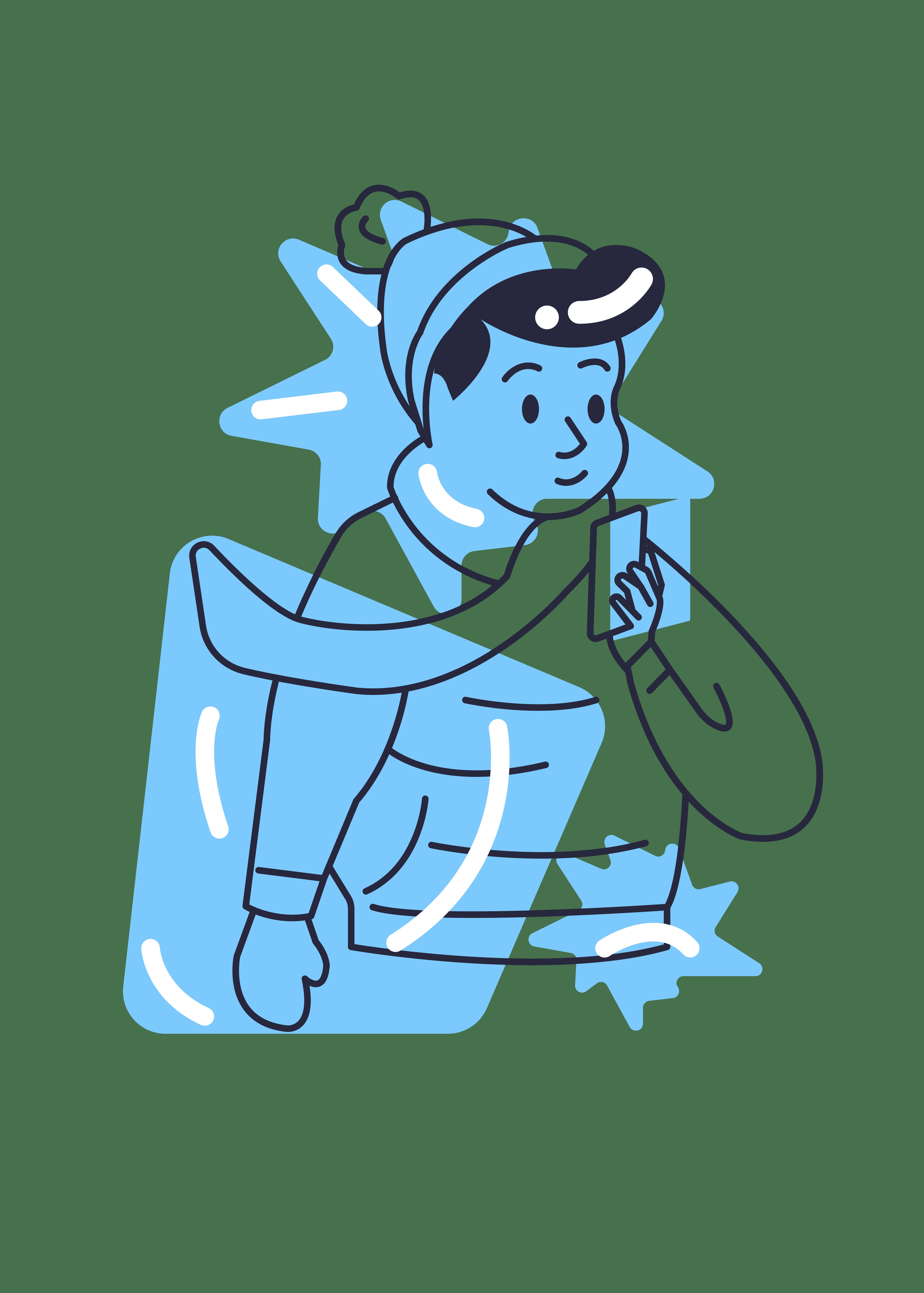 kille med mobil